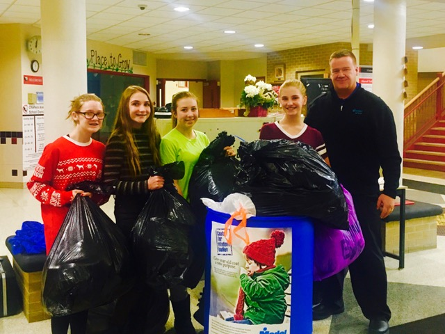 Charleroi Area Students stock the Model Coat bins with light worn Coats for kids in need! Over 750 Coats were donated by Charleroi Area School District!