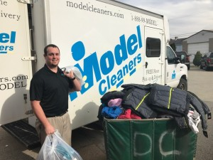 Model Team Member Roman Dipiazza collected 131 Coats from Peters Twp School District.