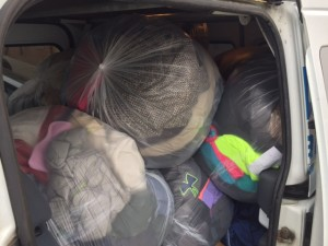 858 Coats packed our Model trucks today! Thank you Area School Districts!